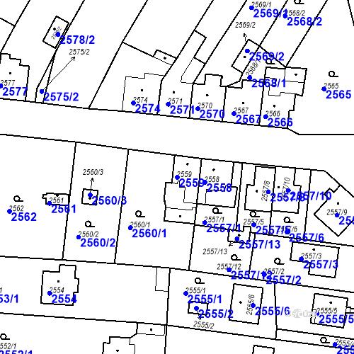 Katastrální mapa Parcela 2559 na katastrálním území České Budějovice 6