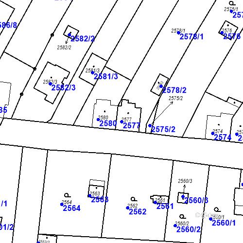 Katastrální mapa Parcela 2577 na katastrálním území České Budějovice 6