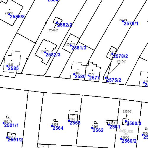 Katastrální mapa Parcela 2580 na katastrálním území České Budějovice 6