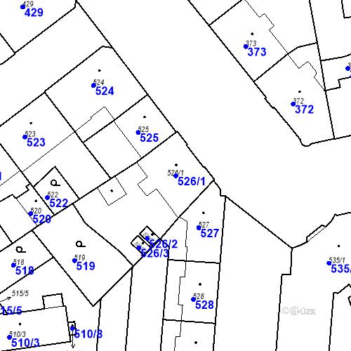 Katastrální mapa Parcela 526/1 na katastrálním území České Budějovice 6