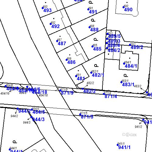 Katastrální mapa Parcela 481 na katastrálním území České Budějovice 6
