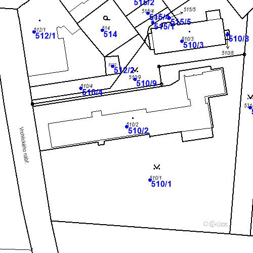 Katastrální mapa Parcela 510/2 na katastrálním území České Budějovice 6