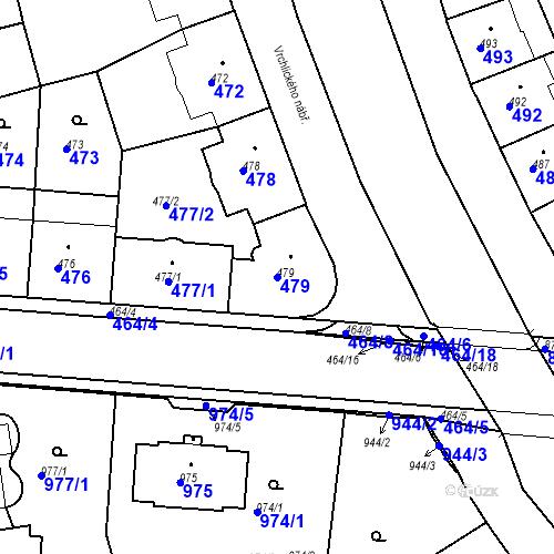Katastrální mapa Parcela 479 na katastrálním území České Budějovice 6