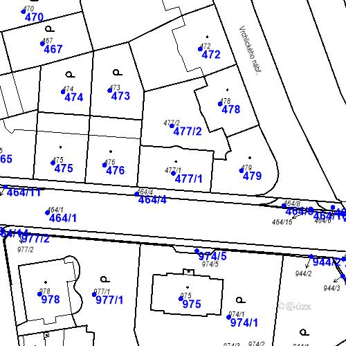 Katastrální mapa Parcela 477/1 na katastrálním území České Budějovice 6