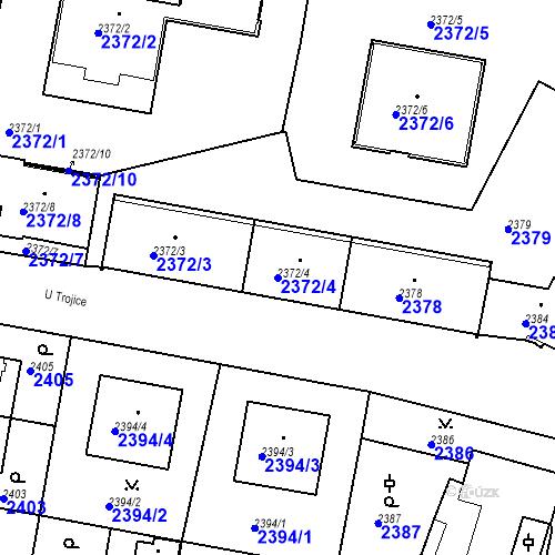 Katastrální mapa Parcela 2372/4 na katastrálním území České Budějovice 3