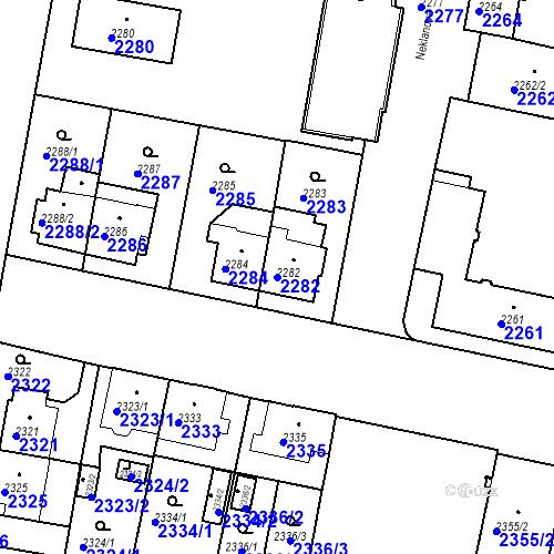 Katastrální mapa Parcela 2282 na katastrálním území České Budějovice 3