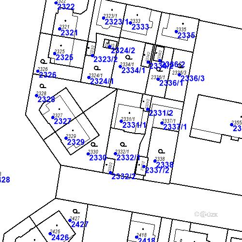 Katastrální mapa Parcela 2331/1 na katastrálním území České Budějovice 3