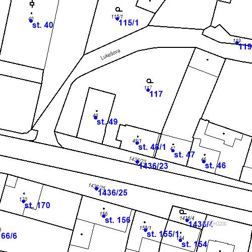 Katastrální mapa Parcela 48/1 na katastrálním území Bernartice u Milevska