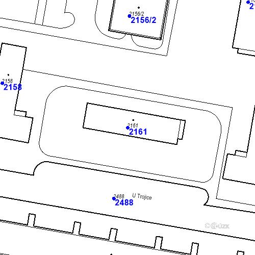 Katastrální mapa Parcela 2161 na katastrálním území České Budějovice 3