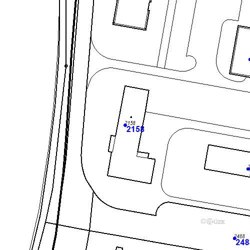 Katastrální mapa Parcela 2158 na katastrálním území České Budějovice 3