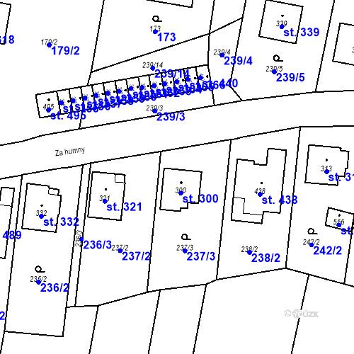 Katastrální mapa Parcela 300 na katastrálním území Bernartice u Milevska