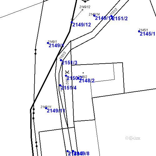 Katastrální mapa Parcela 2148/2 na katastrálním území České Budějovice 3