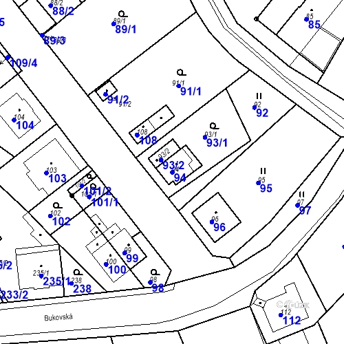 Katastrální mapa Parcela 94 na katastrálním území Skorotice u Ústí nad Labem