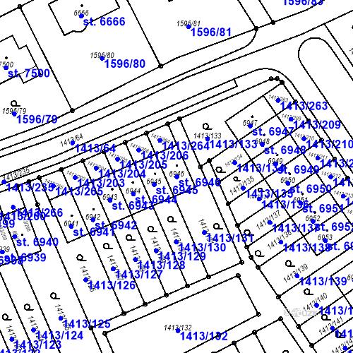 Katastrální mapa Parcela 6946 na katastrálním území Beroun