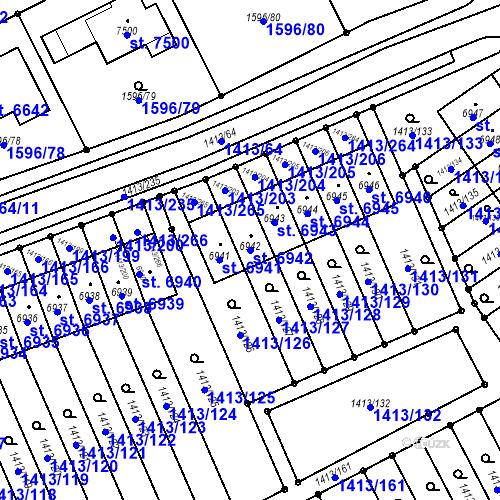 Katastrální mapa Parcela 6942 na katastrálním území Beroun