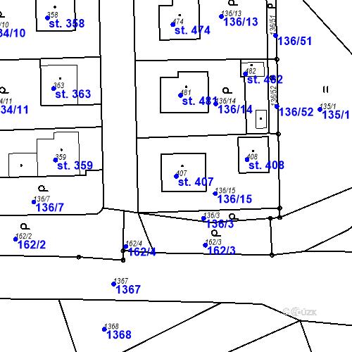 Katastrální mapa Parcela 407 na katastrálním území Mirotice
