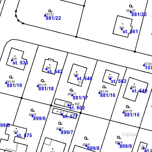 Katastrální mapa Parcela 546 na katastrálním území Mirotice