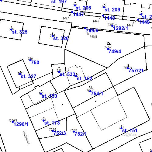 Katastrální mapa Parcela 152 na katastrálním území Strunkovice nad Blanicí