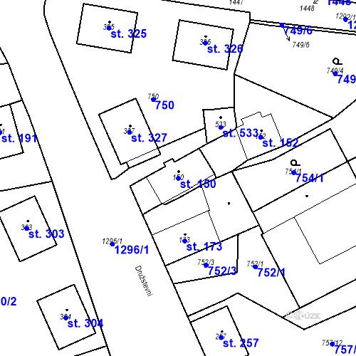 Katastrální mapa Parcela 150 na katastrálním území Strunkovice nad Blanicí