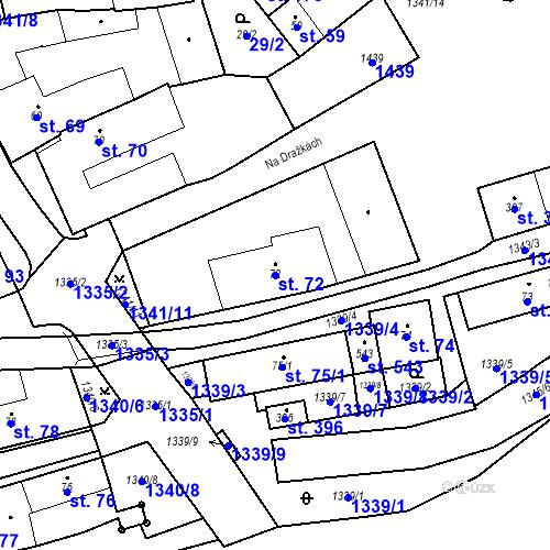 Katastrální mapa Parcela 72 na katastrálním území Strunkovice nad Blanicí