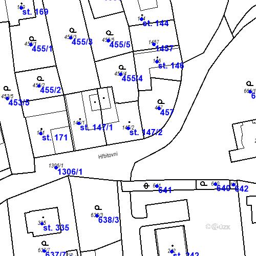 Katastrální mapa Parcela 147/2 na katastrálním území Strunkovice nad Blanicí