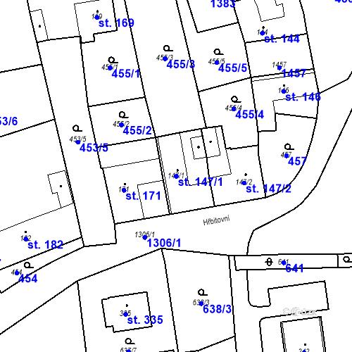 Katastrální mapa Parcela 147/1 na katastrálním území Strunkovice nad Blanicí