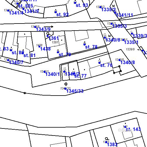 Katastrální mapa Parcela 77 na katastrálním území Strunkovice nad Blanicí