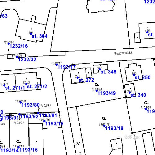 Katastrální mapa Parcela 272 na katastrálním území Bělčice