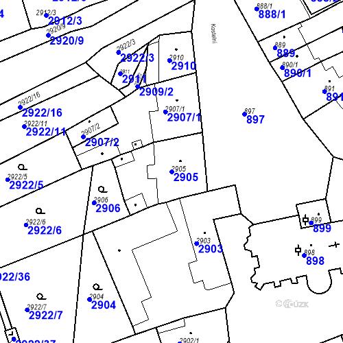 Katastrální mapa Parcela 2905 na katastrálním území Jirkov