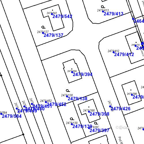 Katastrální mapa Parcela 2479/394 na katastrálním území Třemošná