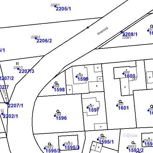 Katastrální mapa Parcela 1599 na katastrálním území Třemošná