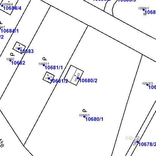 Katastrální mapa Parcela 10680/2 na katastrálním území Plzeň