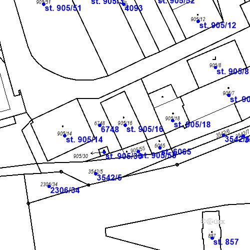 Katastrální mapa Parcela 905/16 na katastrálním území Klatovy