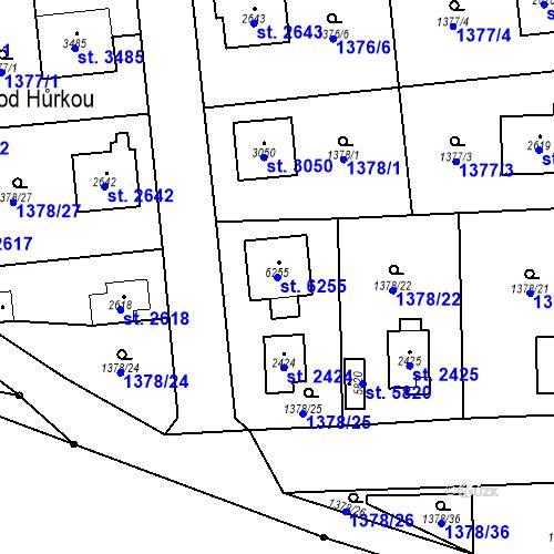 Katastrální mapa Parcela 6255 na katastrálním území Klatovy