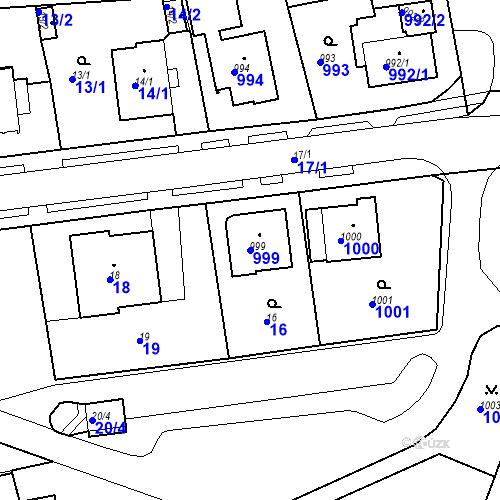 Katastrální mapa Parcela 999 na katastrálním území Drahovice