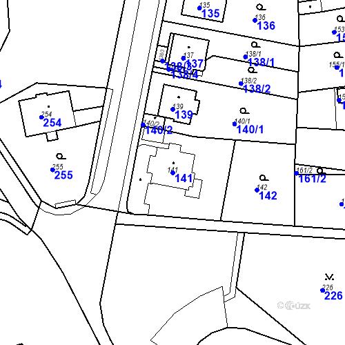 Katastrální mapa Parcela 141 na katastrálním území Drahovice