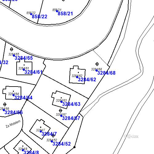 Katastrální mapa Parcela 3284/62 na katastrálním území Karlovy Vary