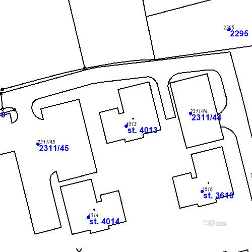Katastrální mapa Parcela 4013 na katastrálním území Domažlice