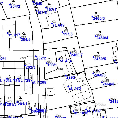 Katastrální mapa Parcela 484 na katastrálním území Bor u Tachova
