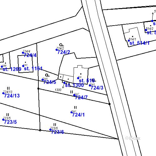 Katastrální mapa Parcela 515 na katastrálním území Bor u Tachova