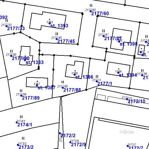 Katastrální mapa Parcela 1386 na katastrálním území Bor u Tachova