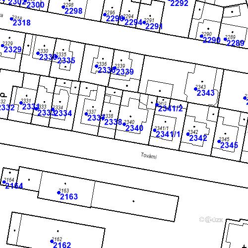 Katastrální mapa Parcela 2340 na katastrálním území Tachov