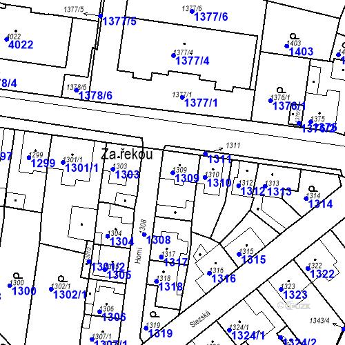 Katastrální mapa Parcela 1309 na katastrálním území Tachov