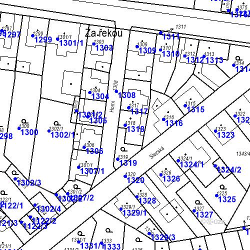 Katastrální mapa Parcela 1318 na katastrálním území Tachov