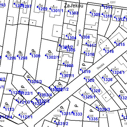 Katastrální mapa Parcela 1306 na katastrálním území Tachov