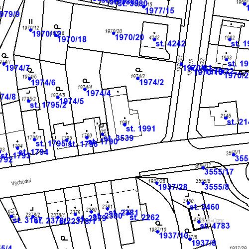 Katastrální mapa Parcela 1991 na katastrálním území Aš
