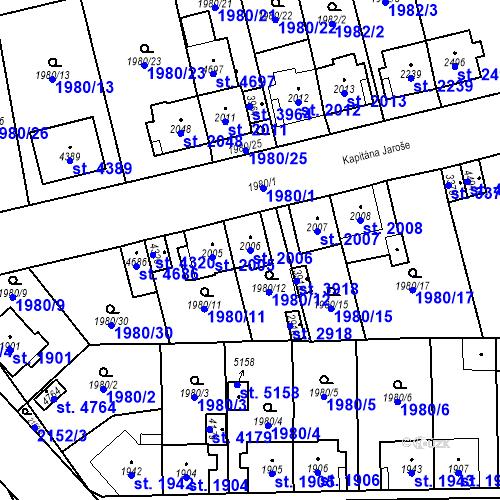 Katastrální mapa Parcela 2006 na katastrálním území Aš