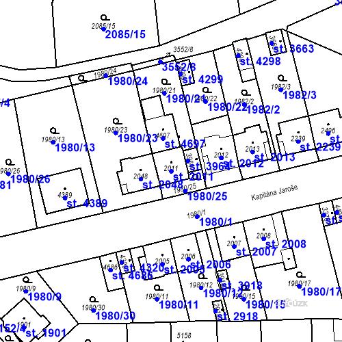 Katastrální mapa Parcela 2011 na katastrálním území Aš