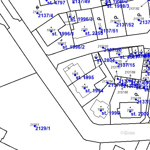 Katastrální mapa Parcela 1995 na katastrálním území Aš