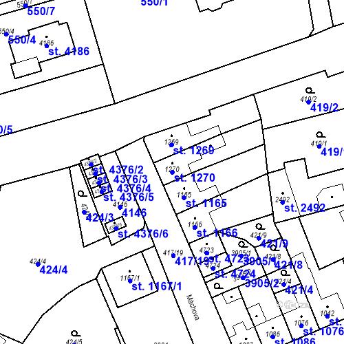Katastrální mapa Parcela 1270 na katastrálním území Aš
